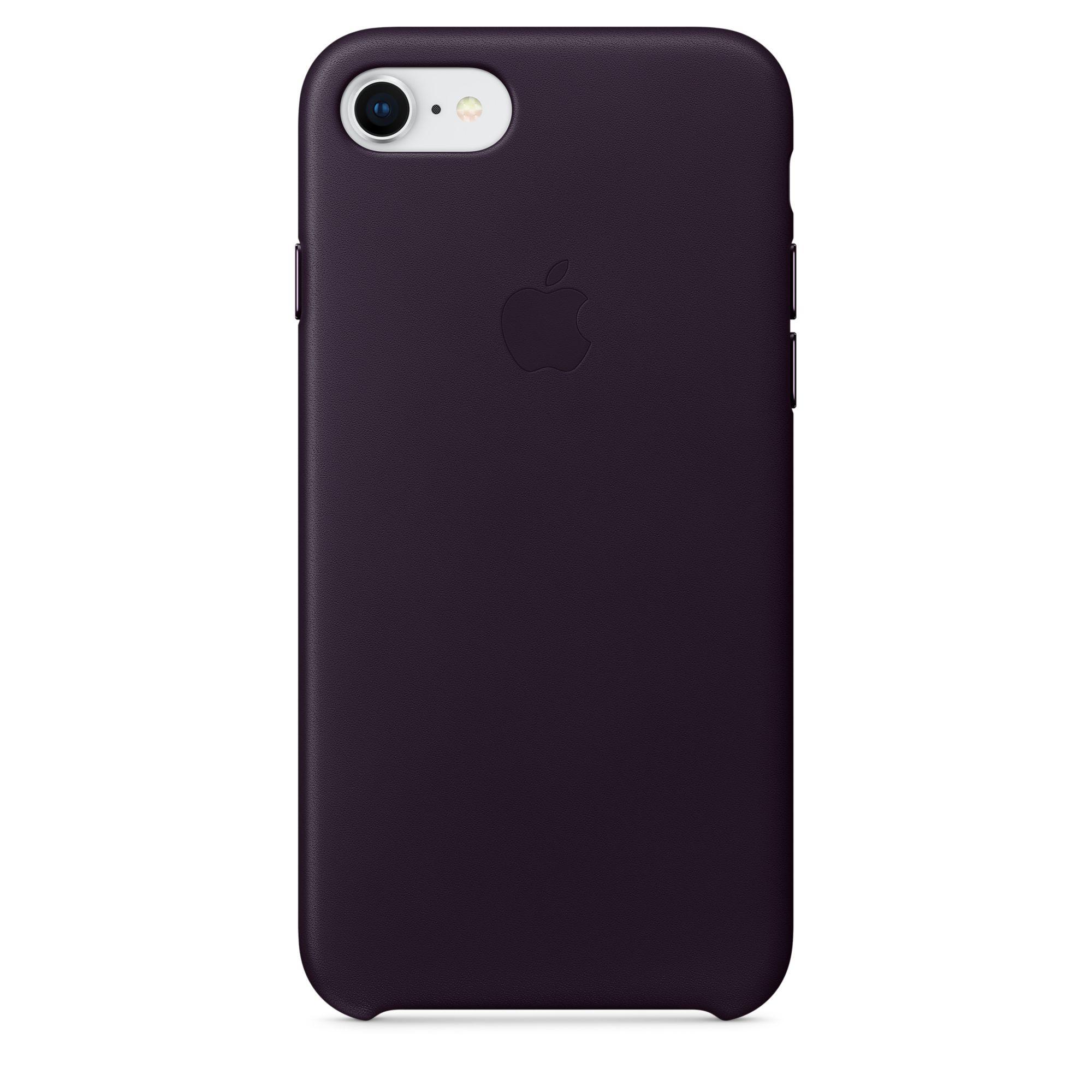 Apple kožený kryt na iPhone 8 / 7 – lilkově fialový