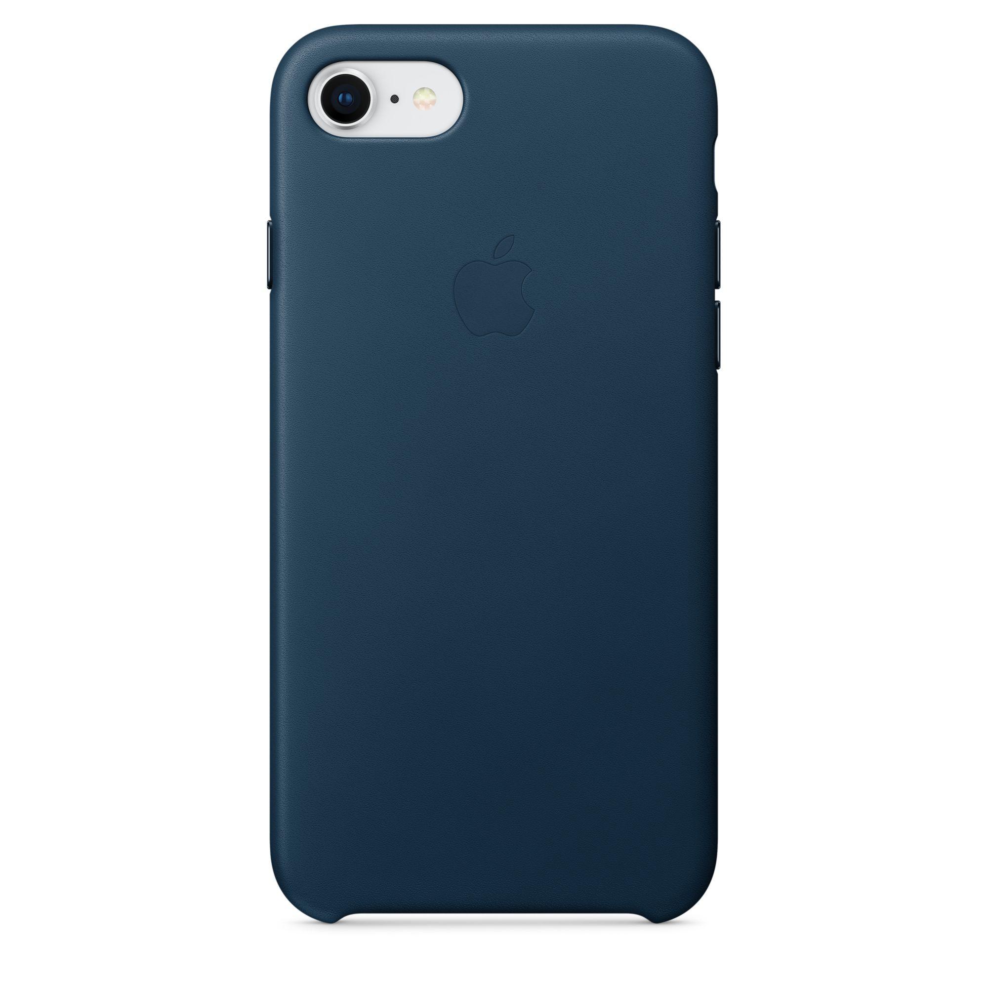 Apple kožený kryt na iPhone 8 / 7 – vesmírně modrý