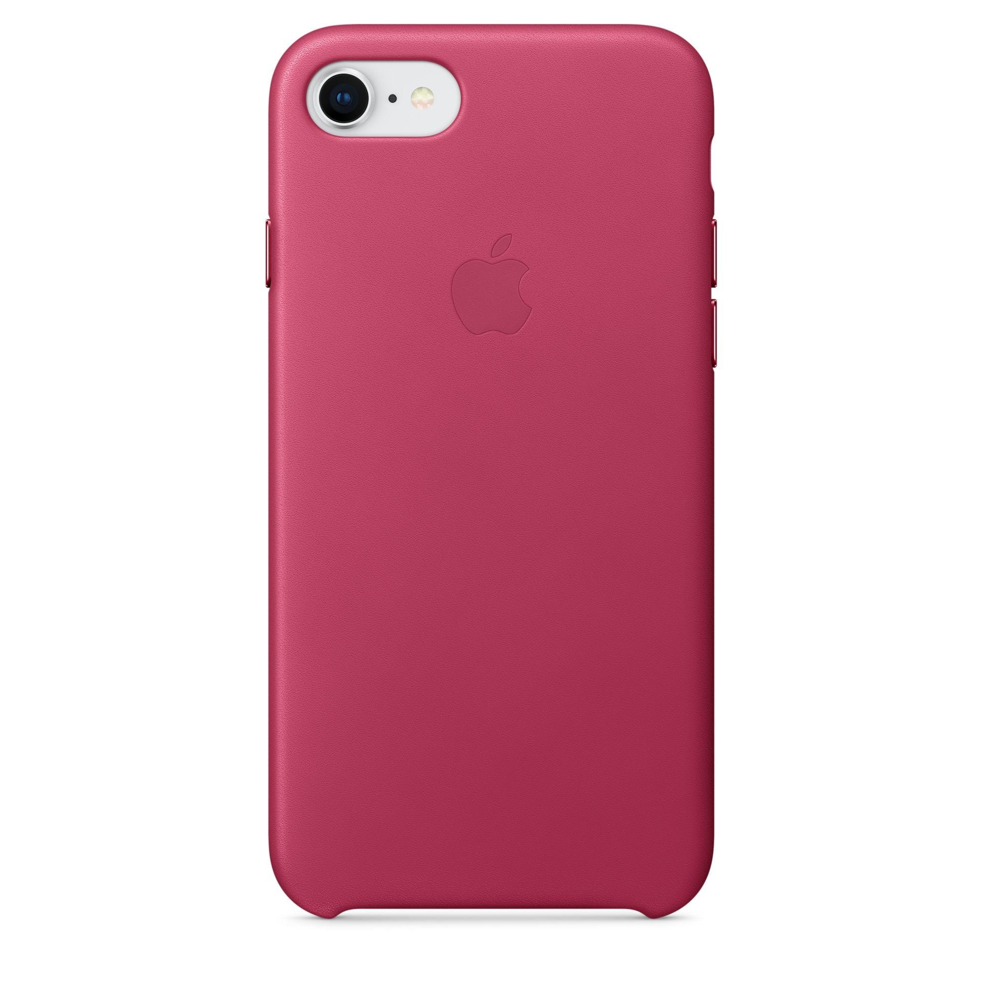 Apple kožený kryt na iPhone 8 / 7 – fuchsiový