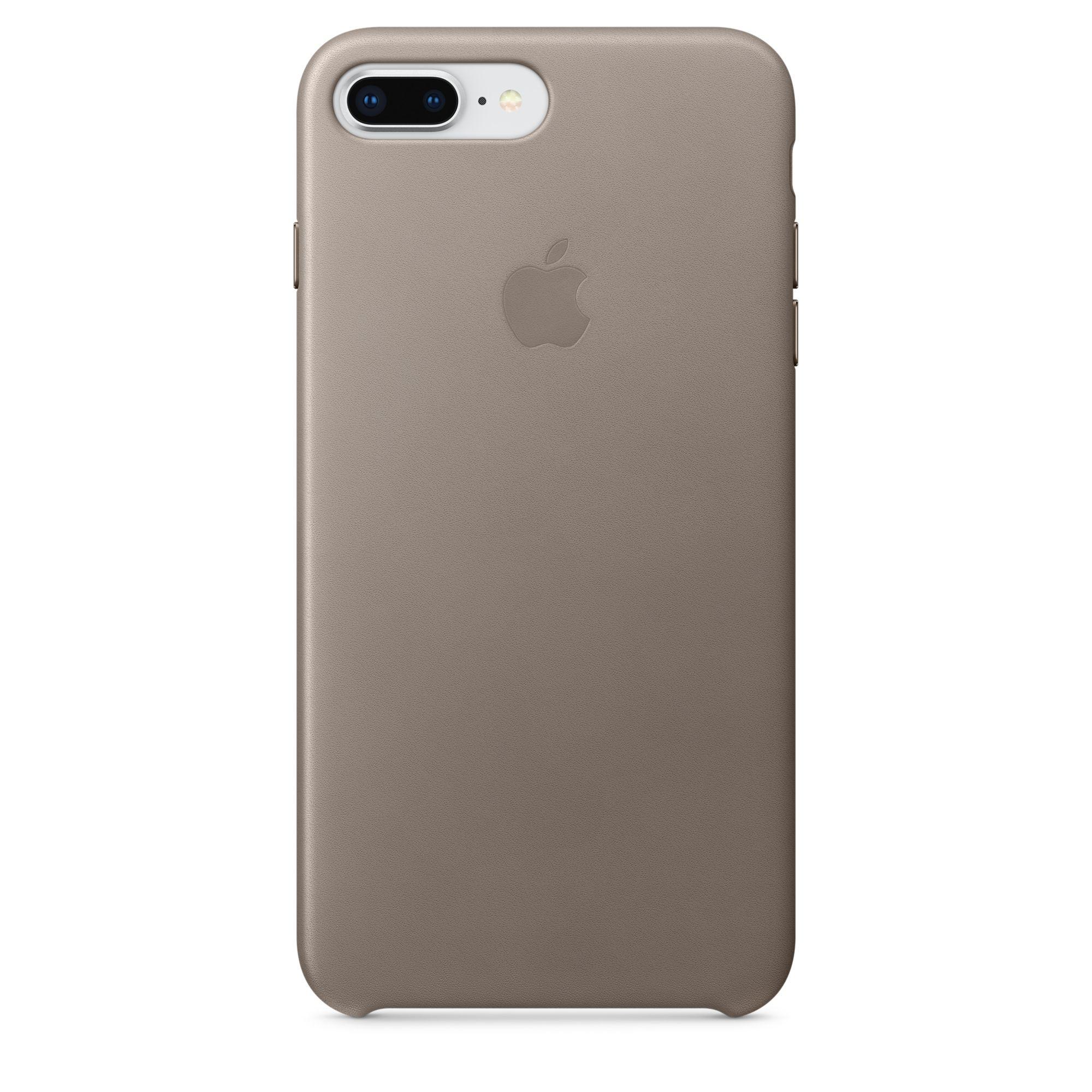 Apple kožený kryt na iPhone 8 Plus / 7 Plus – kouřový