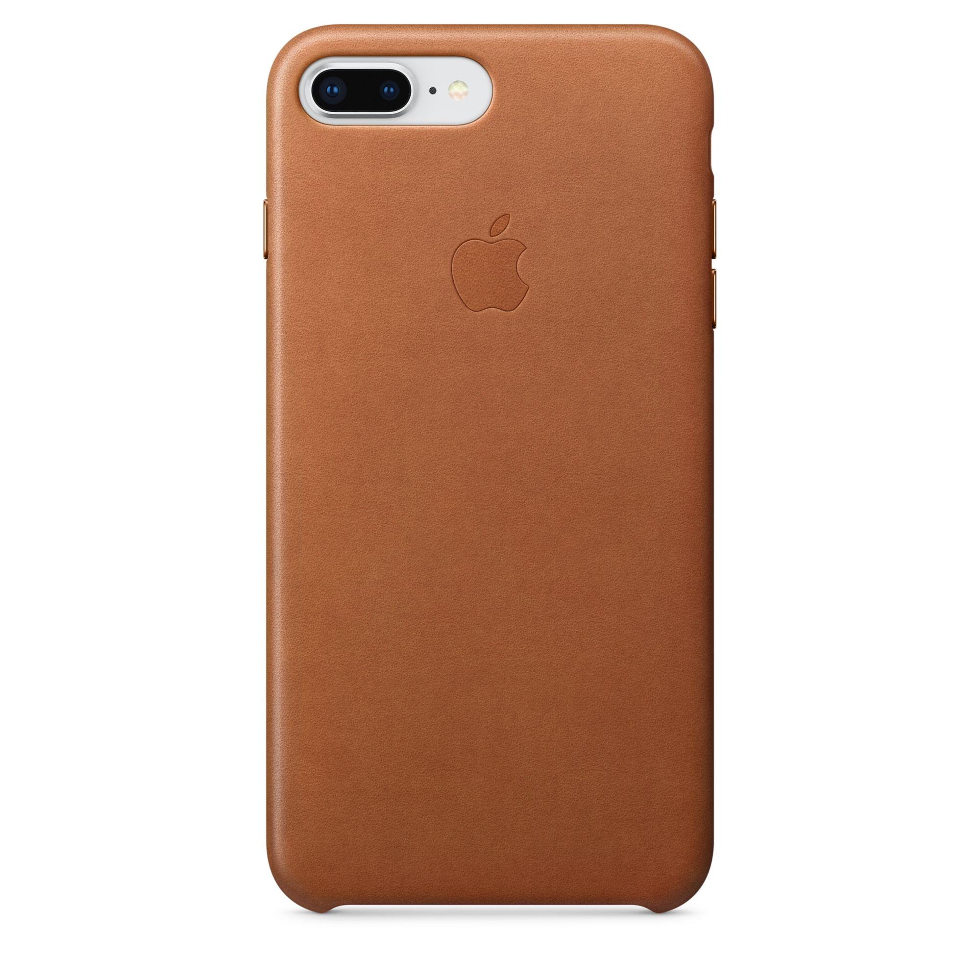 Apple kožený kryt na iPhone 8 Plus / 7 Plus – sedlově hnědý