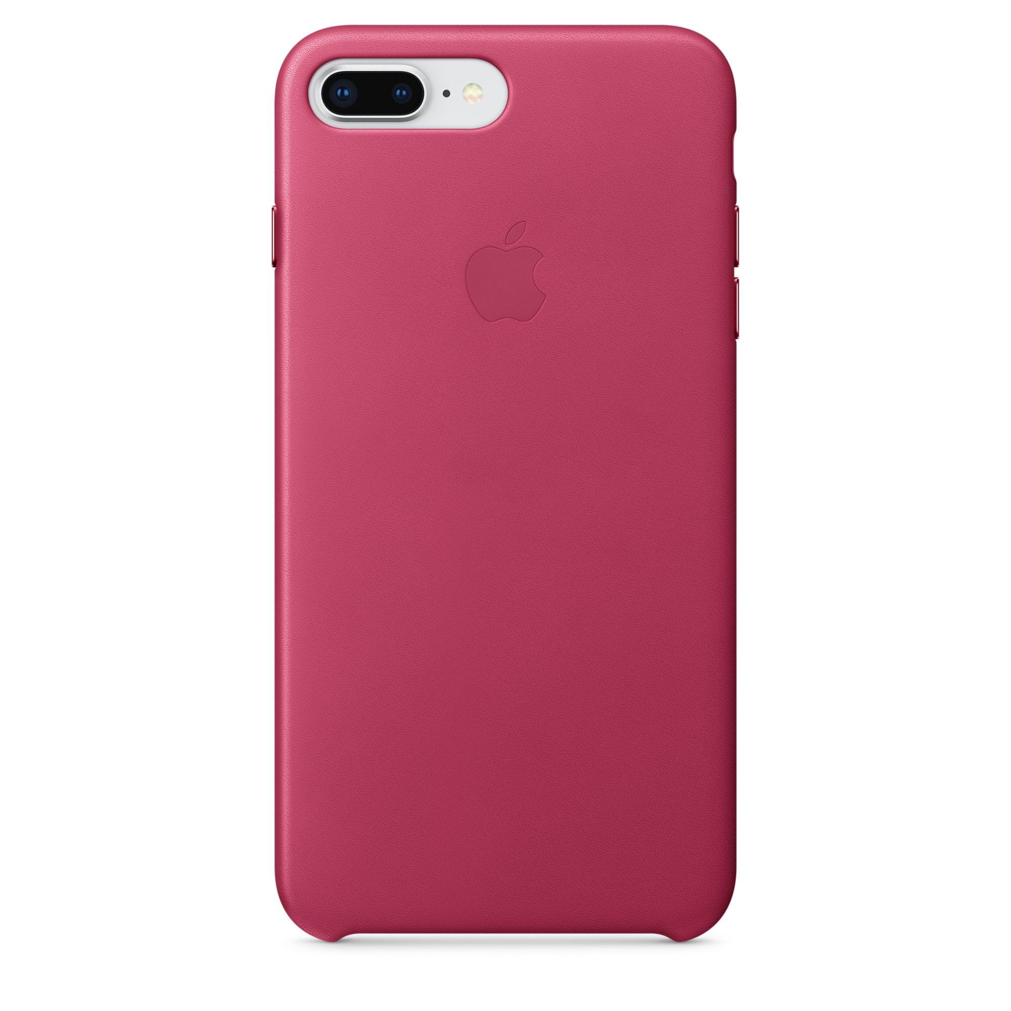 Apple kožený kryt na iPhone 8 Plus / 7 Plus – fuchsiový