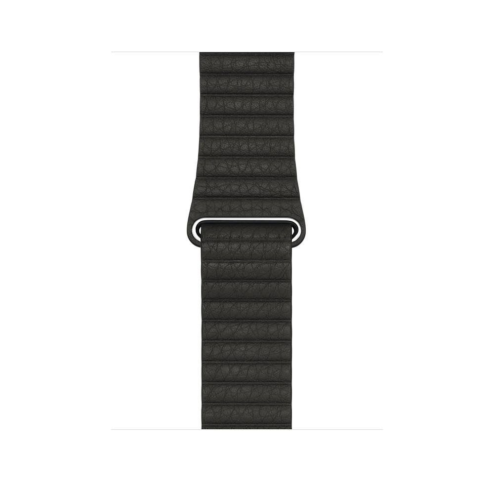 Apple - 42mm uhlově šedý kožený řemínek – střední