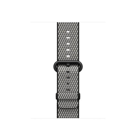 Apple 42mm černý řemínek z tkaného nylonu (šachovnice)