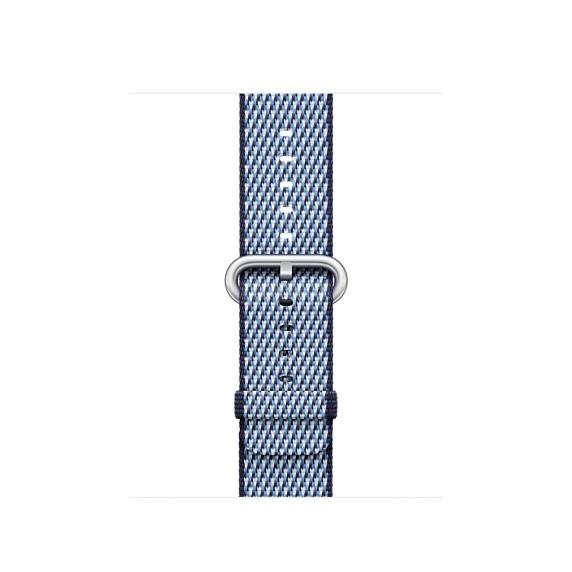 Apple 42mm půlnočně modrý řemínek z tkaného nylonu (šachovnice)