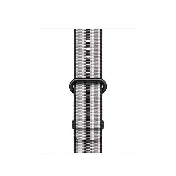 Apple 42mm černý řemínek z tkaného nylonu (proužky)