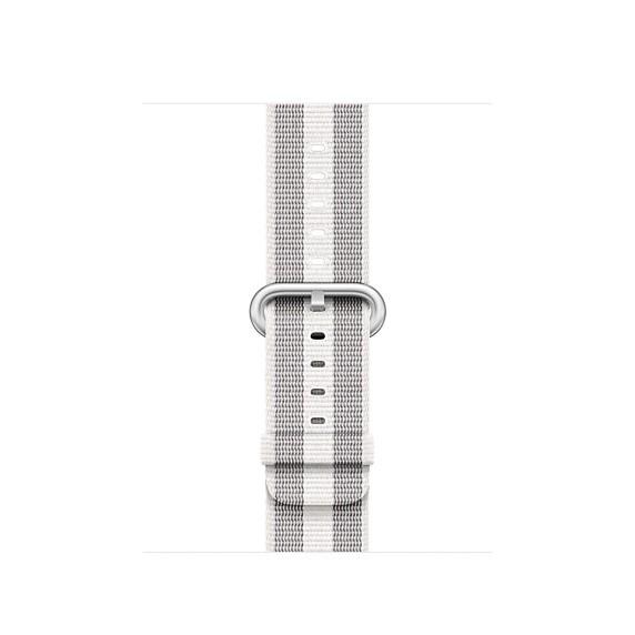 Apple 38mm bílý řemínek z tkaného nylonu (proužky)