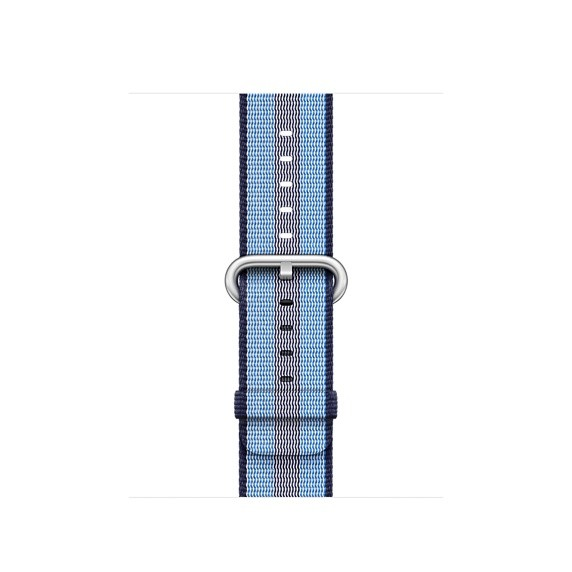Apple 42mm půlnočně modrý řemínek z tkaného nylonu (proužky)