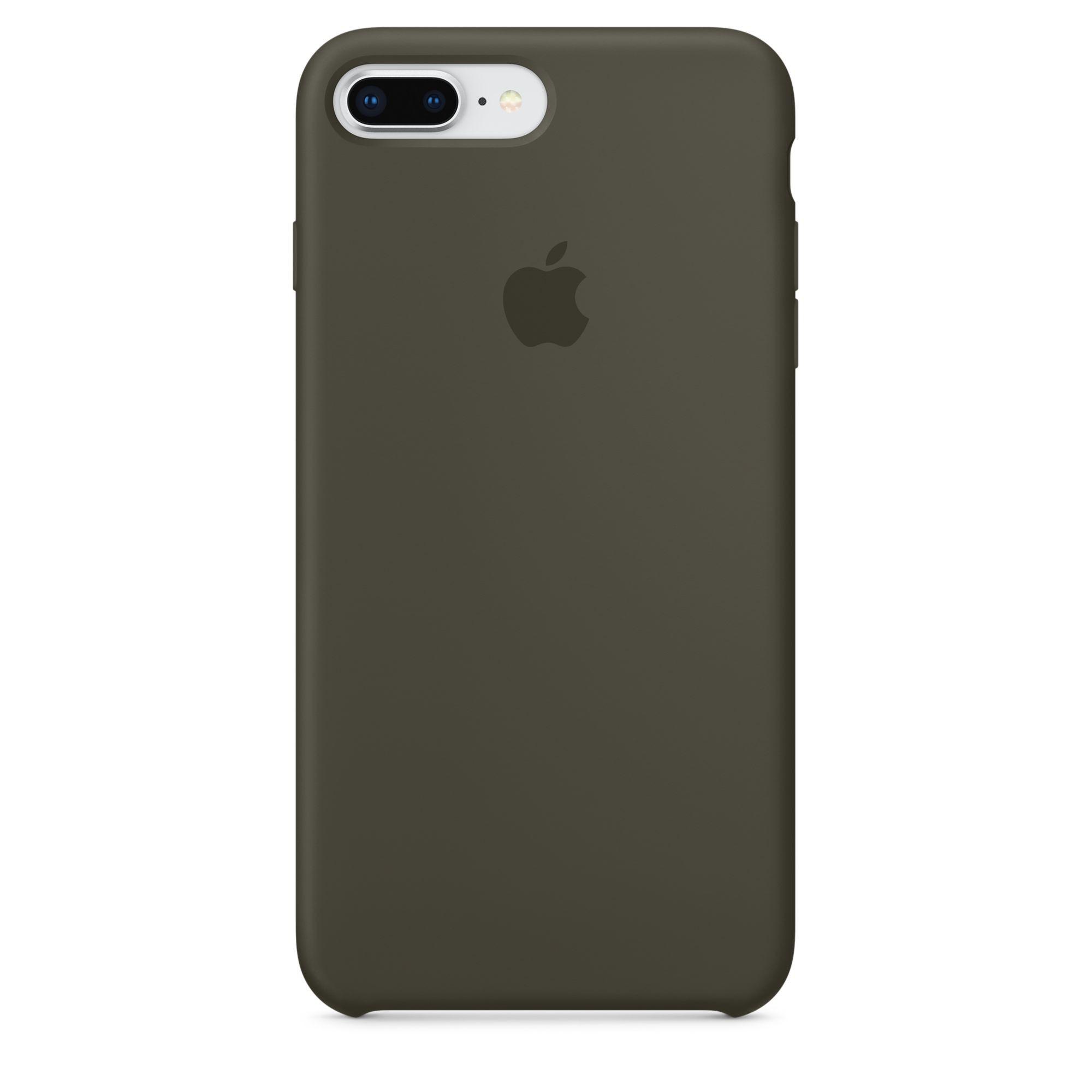 Apple silikonový kryt na iPhone 8 Plus / 7 Plus – tmavě olivový