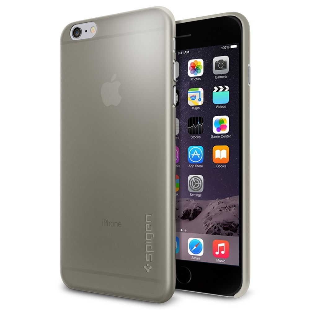 Spigen Air Skin, šedý kryt pro iPhone 6 Plus