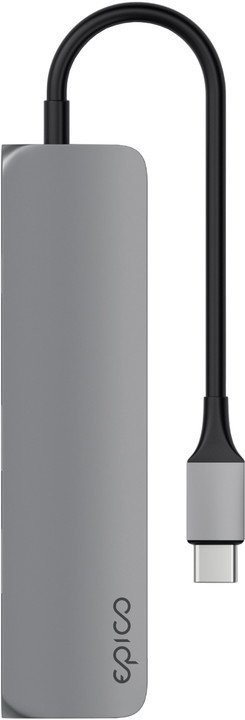 EPICO Slim, USB-C Hub adaptér - vesmírně šedý