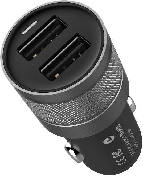 EPICO dual car charger, nabíječka do auta - vesmírně šedá