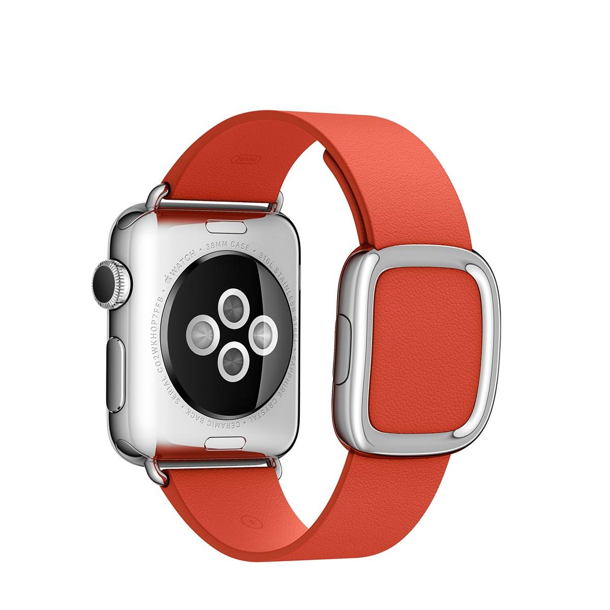 Apple 38mm červený řemínek s moderní přezkou - velký