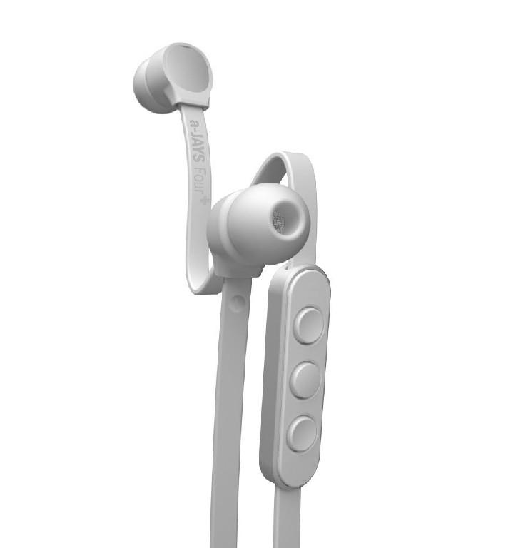 a-JAYS Four + iOS bílo stříbrná sluchátka