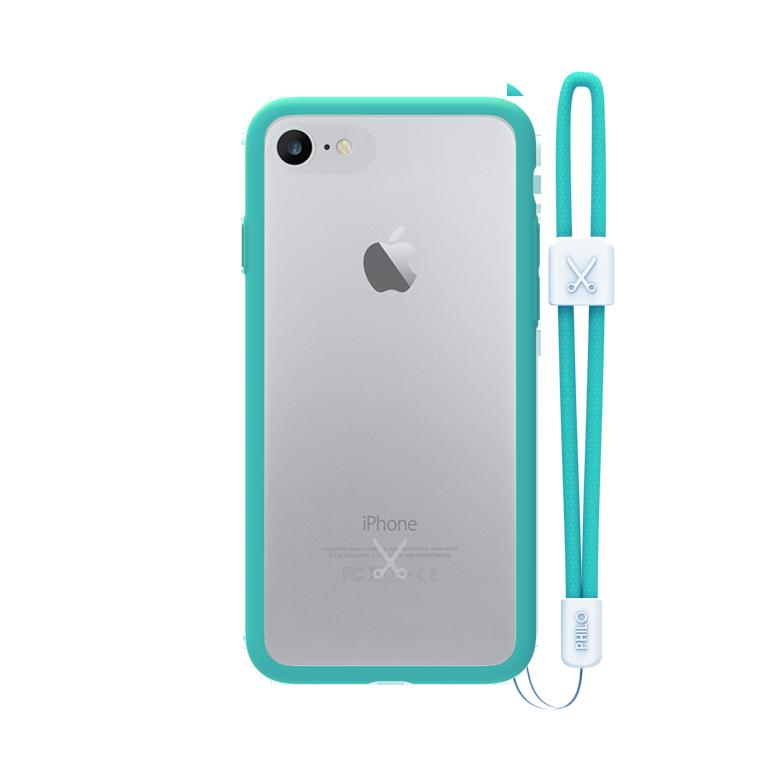 PHILO slim, ultra tenké bumper pouzdro pro iPhone 7 Plus, světle modré