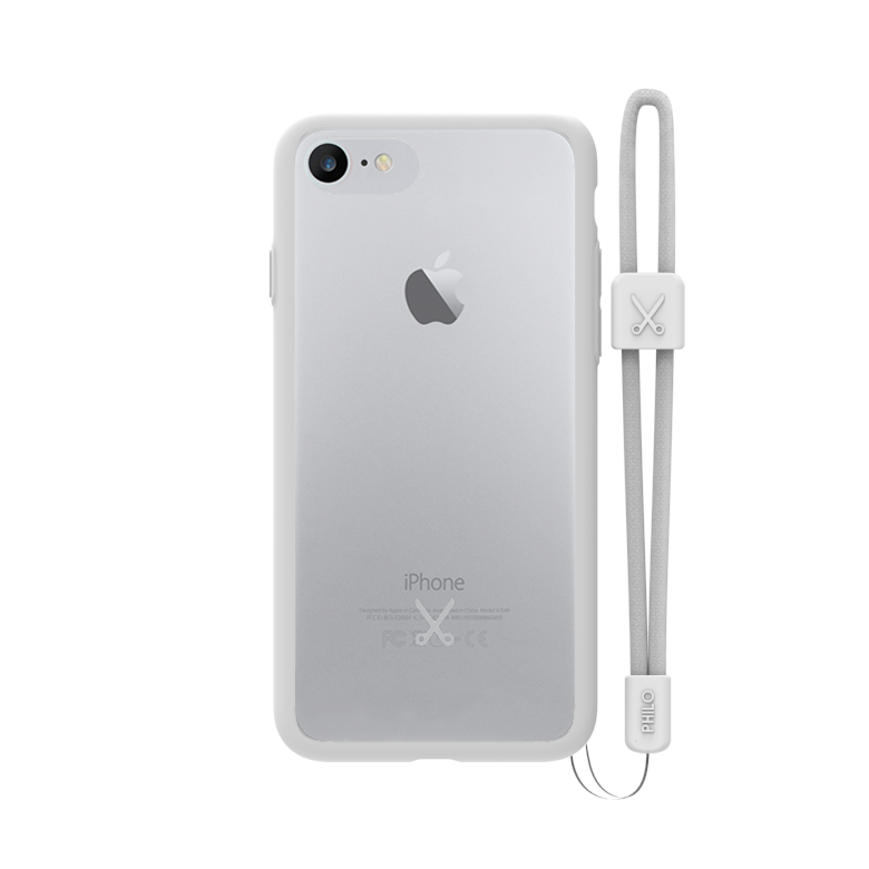PHILO slim, ultra tenké bumper pouzdro pro iPhone 7, bílé