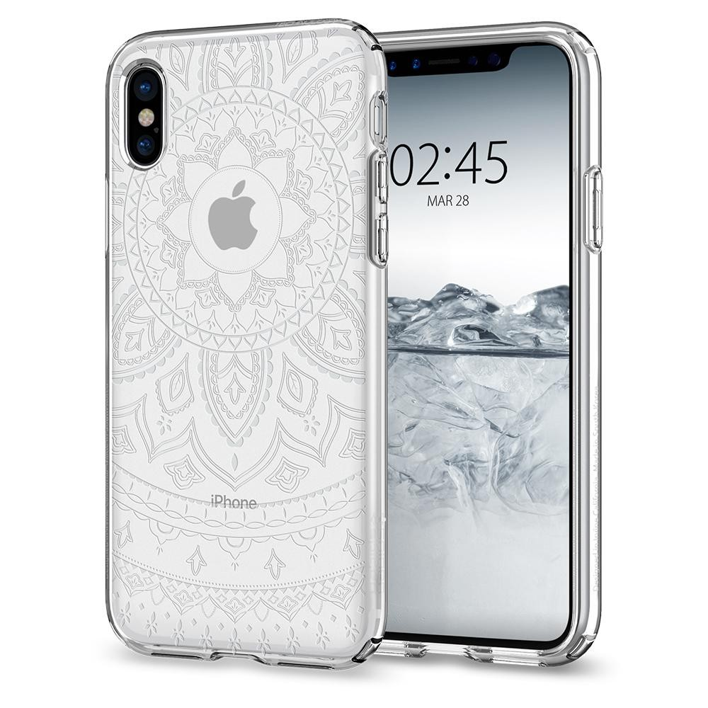Kryt na iPhone X Spigen Liquid Crystal - shine