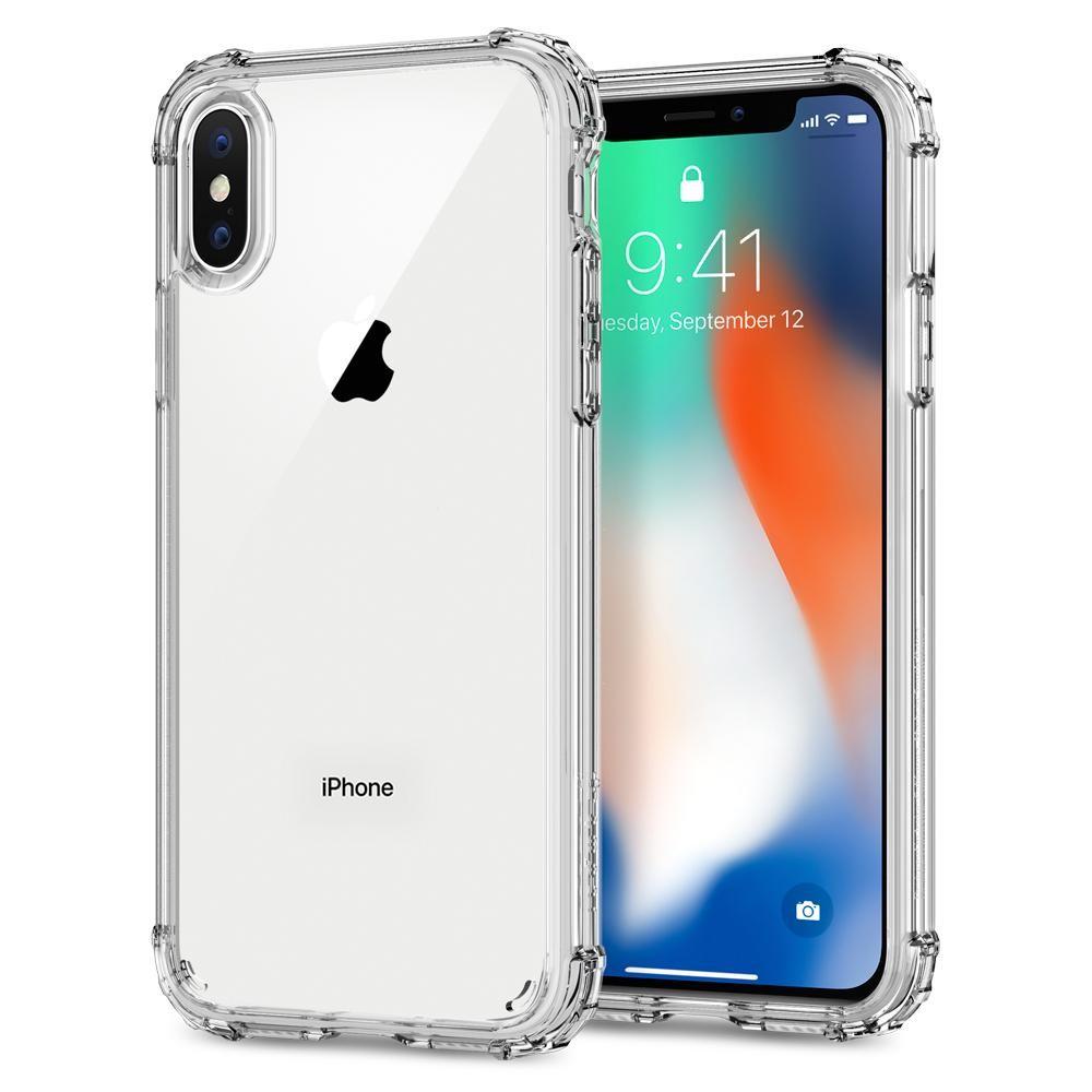 Spigen Crystal Shell, tenký kryt pro iPhone X - průhledný