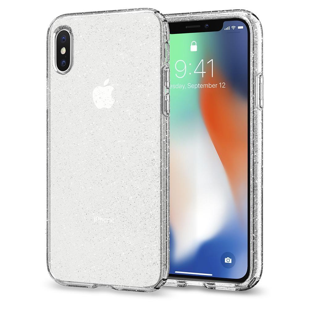 Spigen Liquid Crystal - tenký kryt pro iPhone X - glitter