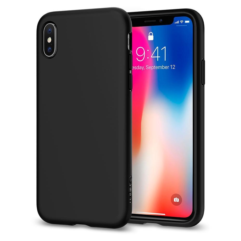 Kryt na iPhone X Spigen Liquid Crystal - černý
