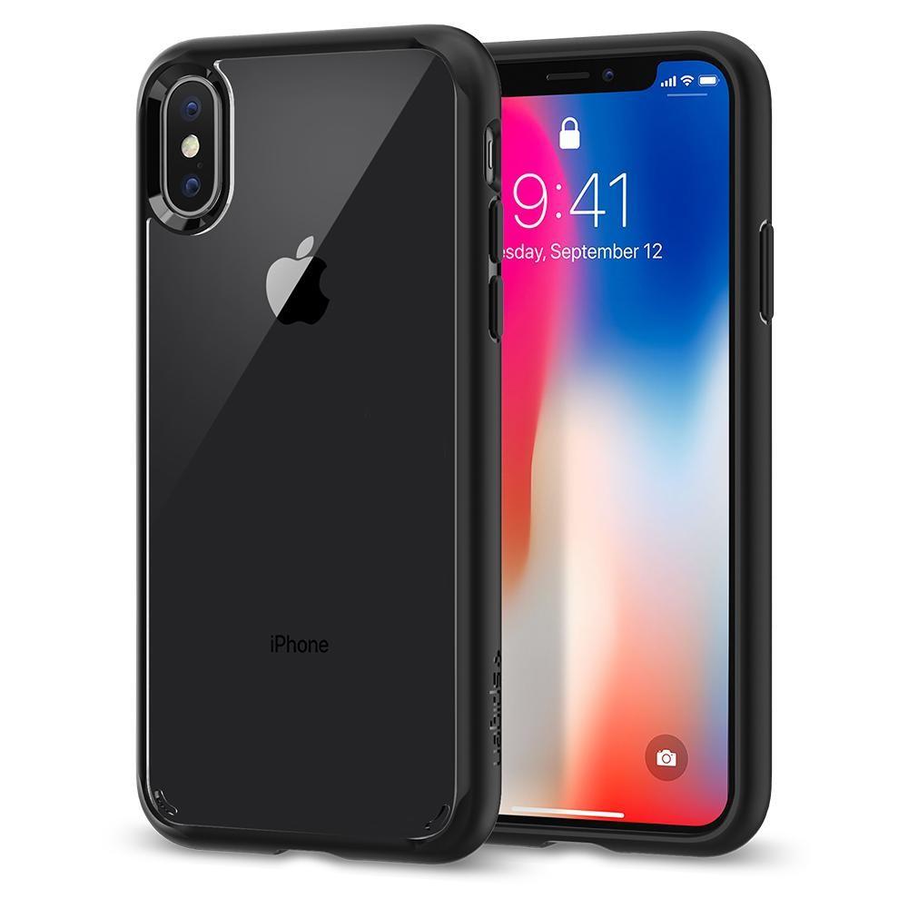 Spigen Ultra Hybrid, ochranný kryt pro iPhone X - černý