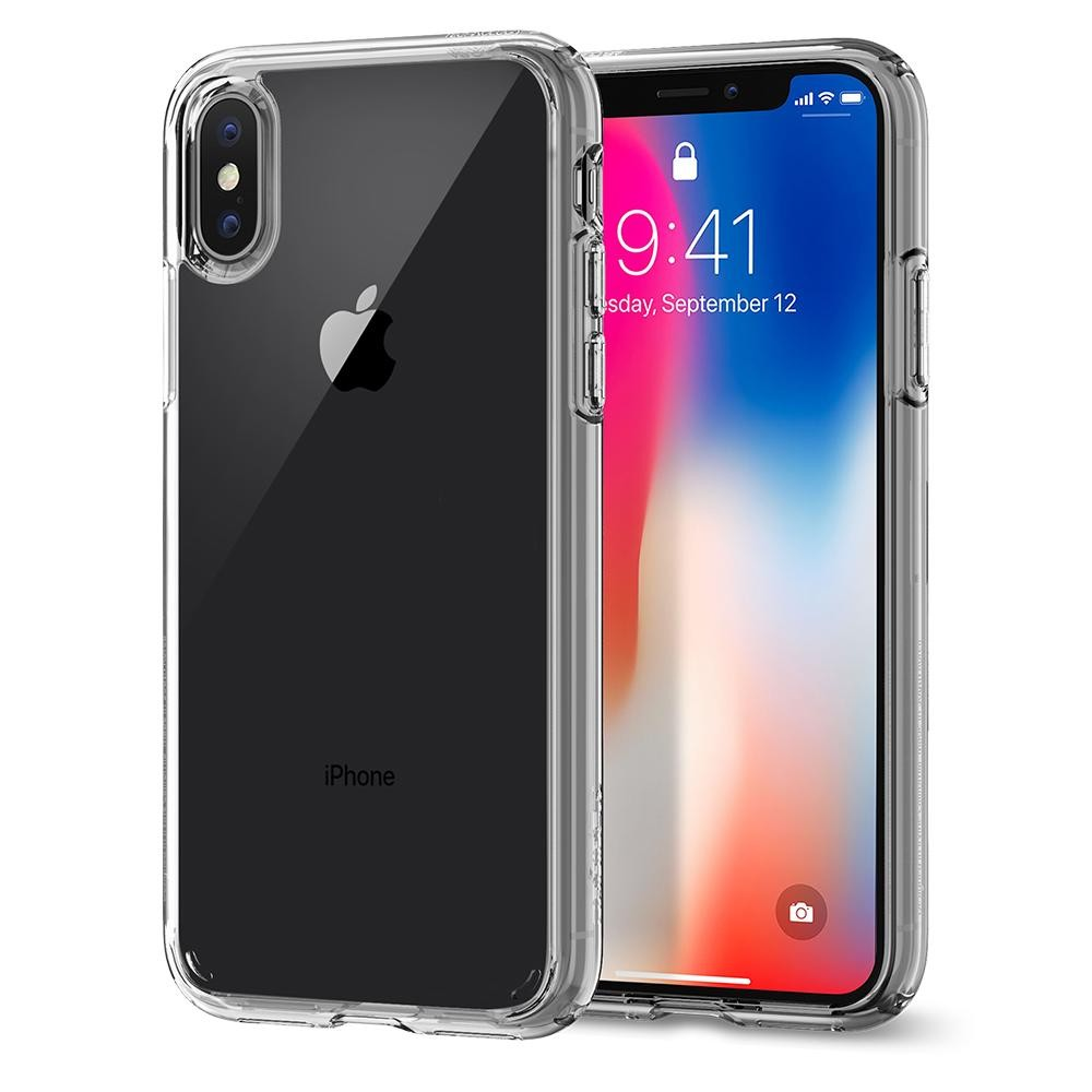 Kryt na iPhone X Spigen Ultra Hybrid - průhledný