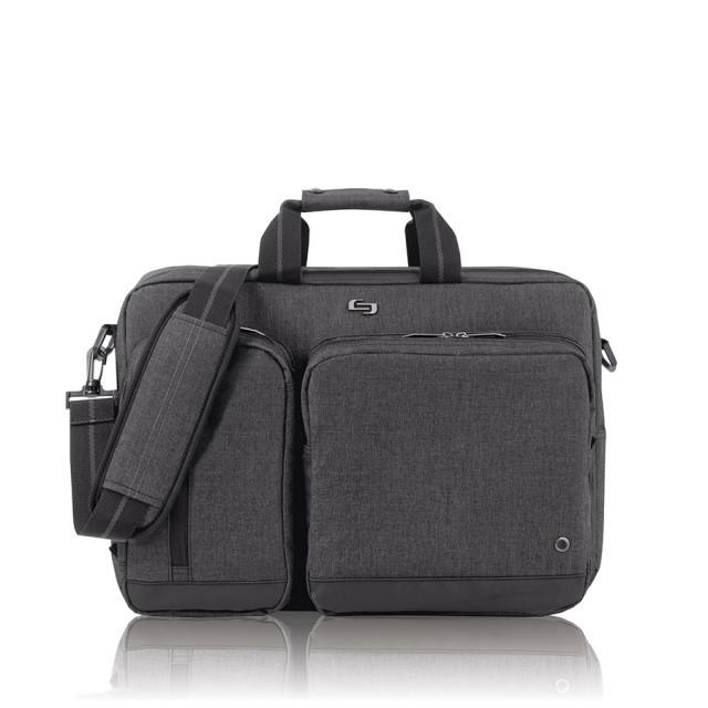 "Solo Duane Hybrid Briefcase - taška pro 15.6"" Macbook/laptop - šedá"