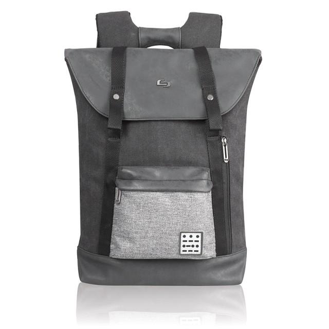 """Solo Momentum Backpack - batoh pro 15.6"""" Macbook/laptop - černý/šedý"""