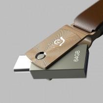 Adam Elements Roma 64 - flash disk s USB-C/USB3 - 64GB - zlatý