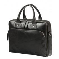 """dBramante 1928 kožená taška Kronborg 16"""" - černá"""