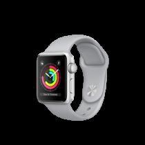 Apple Watch Series 3 38mm pouzdro ze stříbrného hliníku s mlhově šedým sportovním řemínkem (rozbalené, záruka a odpovědnost z vad 12 měsíců u iSTYLE)
