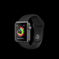 Apple Watch Series 3 38mm pouzdro z vesmírně šedého hliníku s černým sportovním řemínkem (rozbalené, záruka a odpovědnost z vad 12 měsíců u iSTYLE)