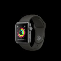 Apple Watch Series 3 38mm pouzdro z vesmírně šedého hliníku s šedým sportovním řemínkem (servisované, nepoužité, záruka a odpovědnost z vad 12 měsíců u iSTYLE)