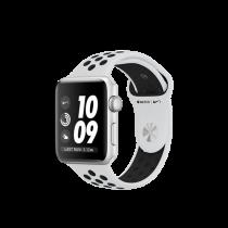 Apple Watch Nike+ pouzdro ze stříbrného hliníku s platinovým/černým sportovním řemínkem Nike