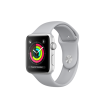 Apple Watch Series 3 42mm pouzdro ze stříbrného hliníku s mlhově šedým sportovním řemínkem (otevřené, záruka a odpovědnost z vad 12 měsíců u iSTYLE)