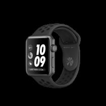Apple Watch Nike+ pouzdro z vesmírně šedého hliníku s antracitovým/černým sportovním řemínkem Nike