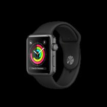 Apple Watch Series 3 42mm pouzdro z vesmírně šedého hliníku s černým sportovním řemínkem (otevřený, záruka a odpovědnost z vad 12 měsíců u iSTYLE)