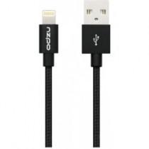 Odolný textilní kabel s Lightning konektorem - Odzu, černý