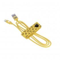 Tribe Minions Tom, odolný Lightning kabel (120cm) - žlutý