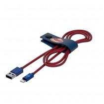Tribe DC Movie Superman, odolný Lightning kabel (120cm) - modrý