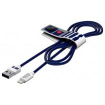 Tribe Star Wars R2D2, odolný Lightning kabel (120cm) - modrý
