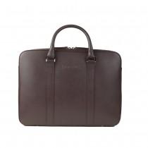 John & Paul - kožená slim taška na MacBook - vínová
