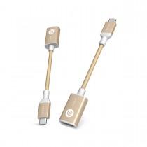 Adam Elements CASA F13 - redukce USB-C na USB - zlatá