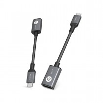 Adam Elements CASA F13 - redukce USB-C na USB - šedá