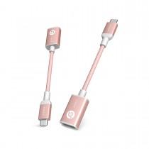 Redukce Adam Elements CASA F13 USB-C na USB - růžová