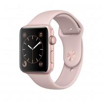 Apple Watch Series 1 - 42mm pouzdro z růžově zlatého hliníku – pískově růžový sportovní řemínek