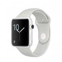 Apple Watch Series 2 - 38mm pouzdro z bílé keramiky – oblačně bílý sportovní řemínek
