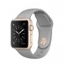 Apple Watch Series 1 - 38mm pouzdro ze zlatého hliníku – cementově šedý sportovní řemínek