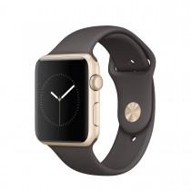 Apple Watch Series 1 - 42mm pouzdro ze zlatého hliníku – kakaově hnědý sportovní řemínek (otevřené, záruka a odpovědnost z vad 12 měsíců u iSTYLE)