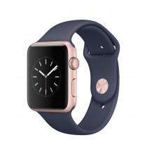 Apple Watch Series 1 - 42mm pouzdro z růžově zlatého hliníku – půlnočně modrý sportovní řemínek